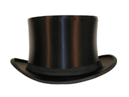 3cd1915bf77ff Satin Collapsible Top Hat